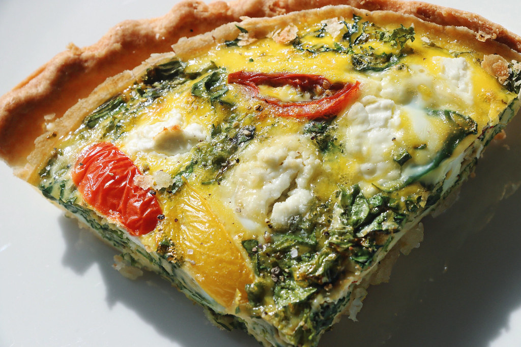 kale & goat cheese quiche 9