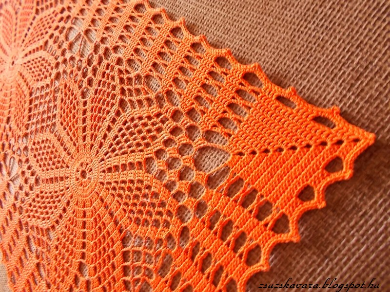 spring, colorful, doily, table runner, (3)