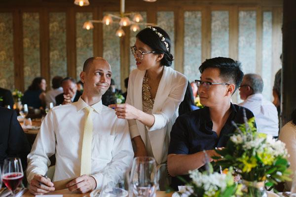 Celine Kim Photography KM Intimate restaurant Cluny Bistro Distillery District Toronto summer wedding-46