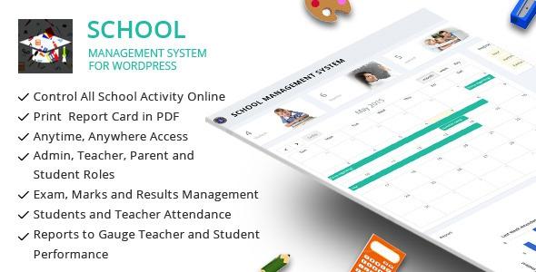 School Management System for Wordpress v31.0