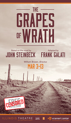 Poster for Grapes of Wrath at Krannert