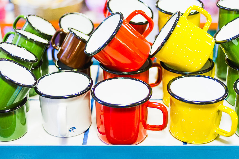 enamel mugs colourful cool places in manchester