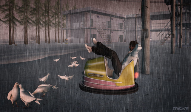 Pigeons, a bumper car and soaked sneakers @ Furillen ;)