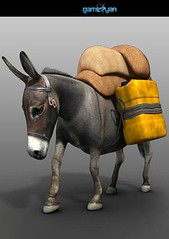 Donkey Quadruped Character Animation