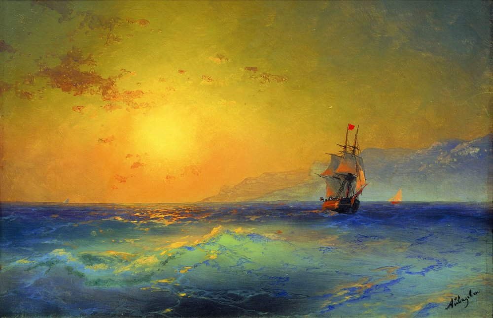 Near Crimean coast - Ivan Aivazovsky, 1890