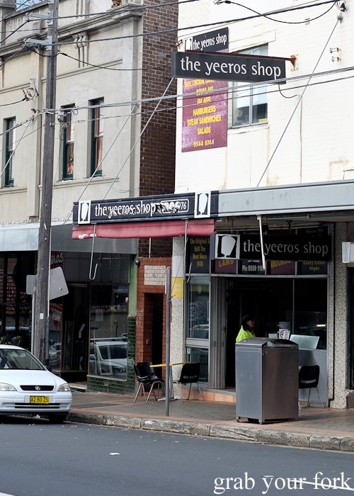 One of Sydney's first yeeros shops, The Yeeros Shop in Marrickville