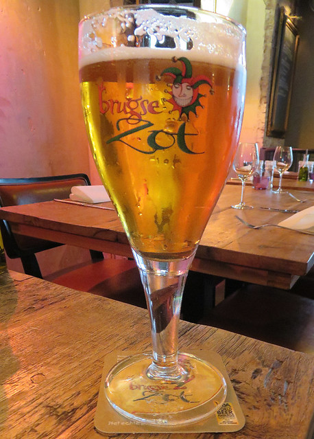 Brugse Zot Beer at the Ubica Pub in Utrecht, Holland