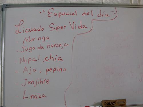 San Cristóbal de las Casas: dans un restaurant végétarien