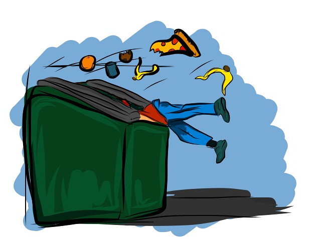 In search of free lunch: dumpster diving in Newark