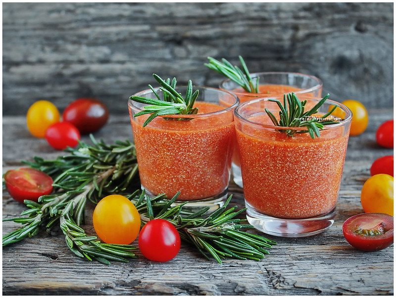 ...tomato smoothies cottage cheese
