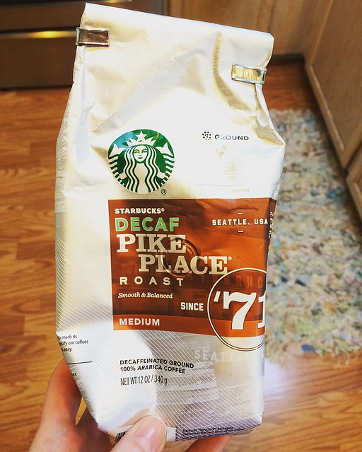 """Re: replacing 2.5 of my daily 3 cups of coffee with decaf...""""It's not right, but it's okay."""""""