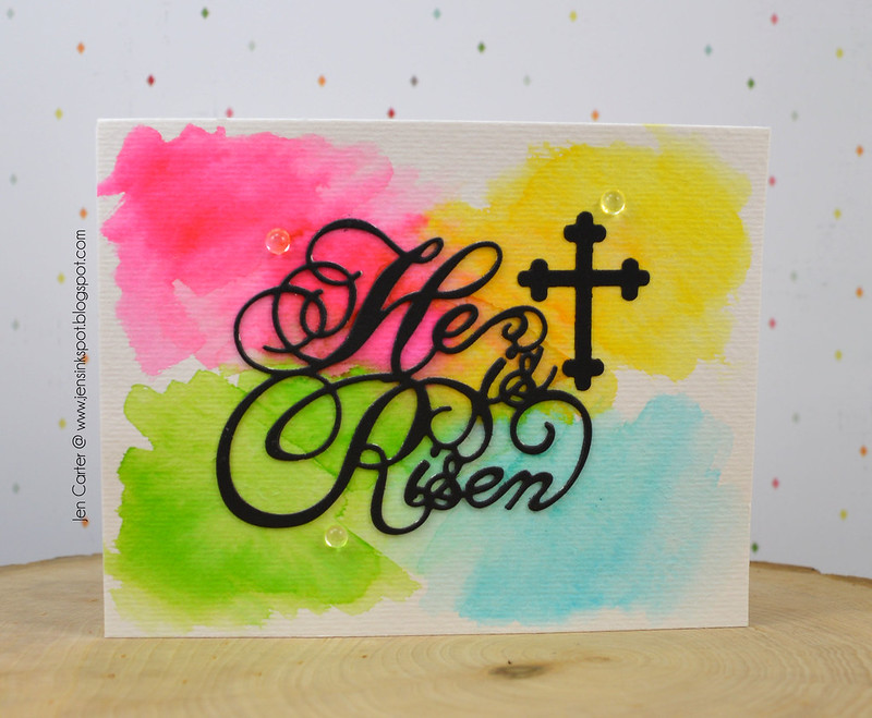 Jen Carter He is Risen Watercolor