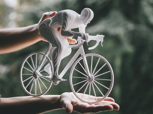 Paper Sculpture Cyclist by Raya Sader Bujana