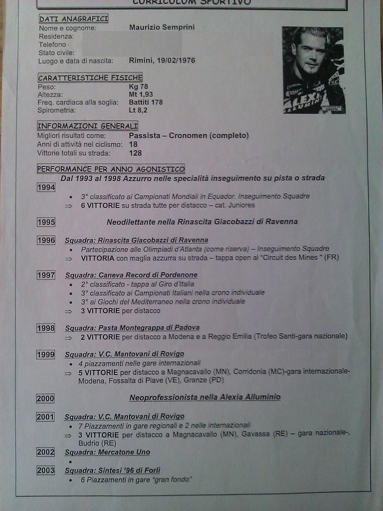 Curriculum sportivo di Maurizio