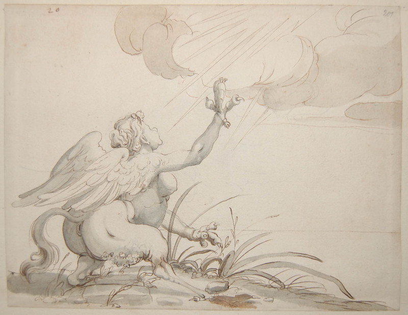 Arent van Bolten - Monster 201, from collection of 425 drawings, 1588-1633
