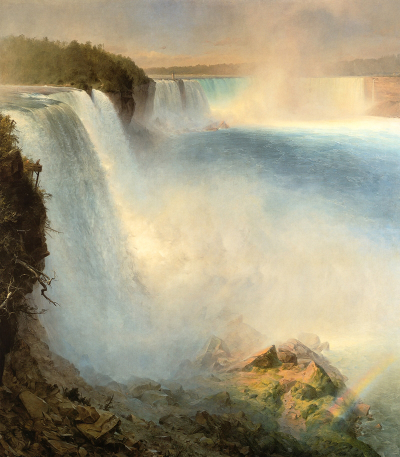 Niagara Falls from the American Side by Frederic Edwin Church, 1867