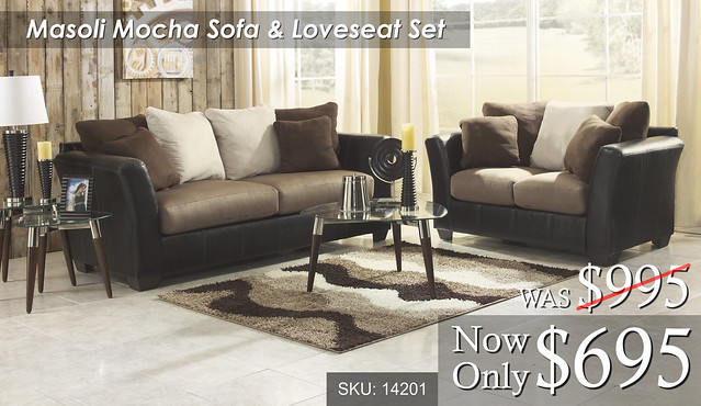 Masoli Mocha Sofa & Loveseat