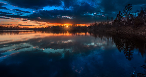 trees sunset sky sun lake canada water clouds reflections colours dusk wideangle 1635 nikond810