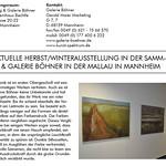 Katalog der Galerie Böhner 2016
