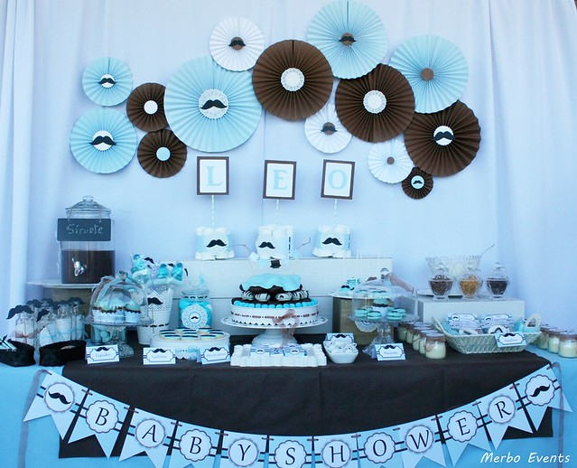 baby shower niño moustache