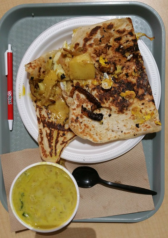 2016-Jan-14 Canra SriLankan - egg roti, plain roti, lentil curry