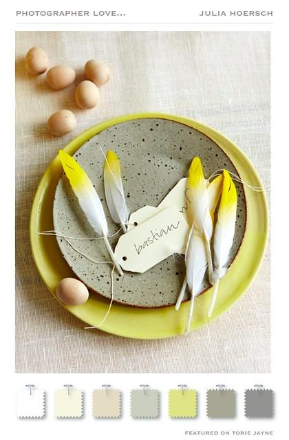 Yellow & Teal Easter from Julia Hoersch