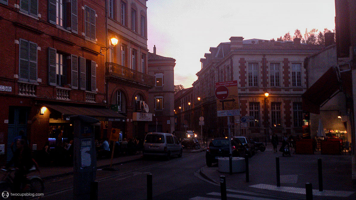 Student quarter in the evening