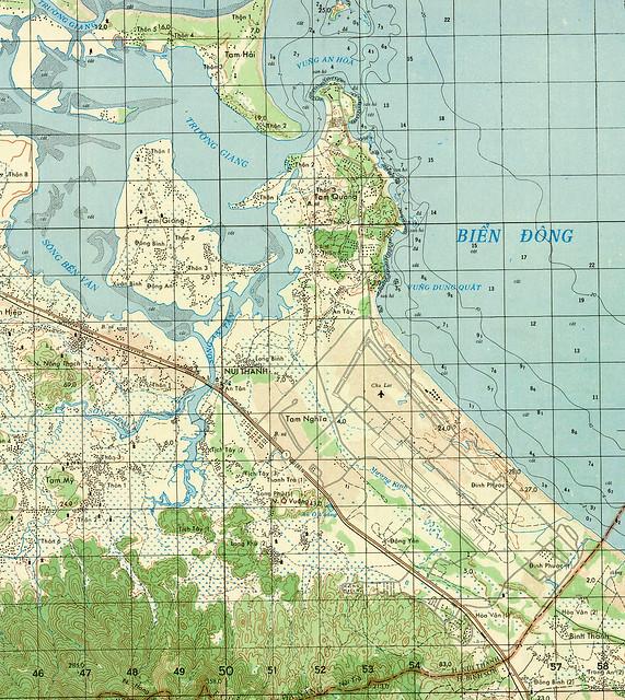 Phi trường Chu Lai - Vũng Dung Quất 1967 - Phiên bản in lại của VN sau 1975