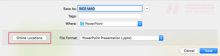 Save powerpoint for ipad