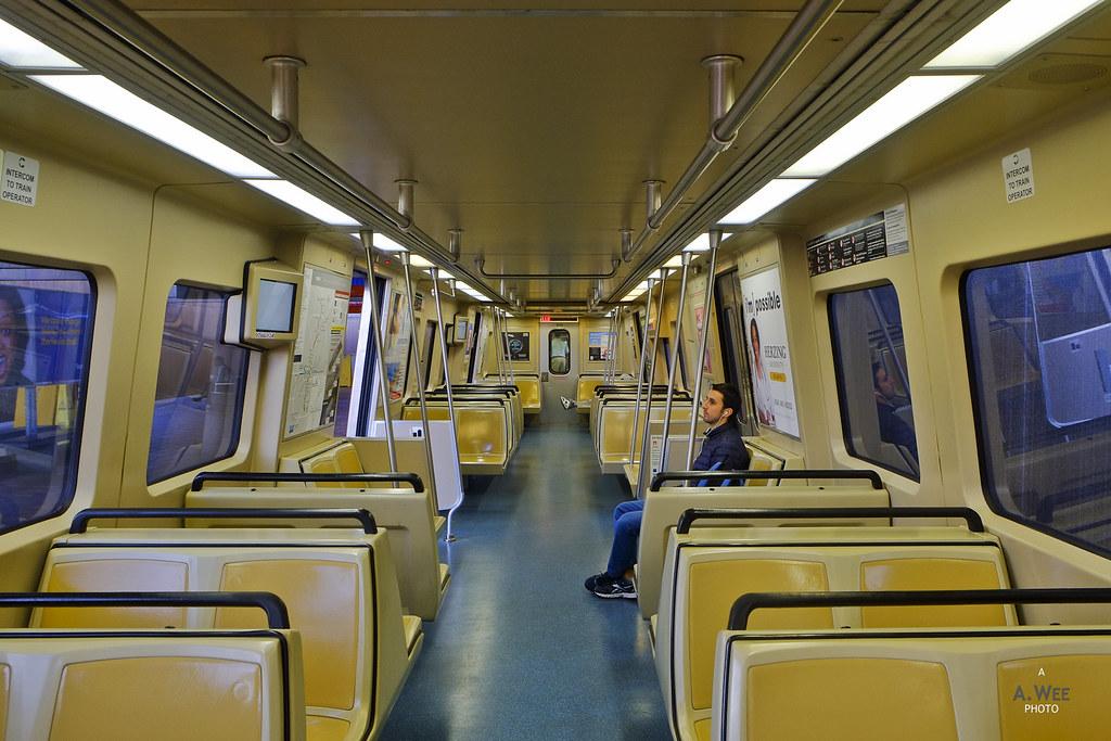 Onboard the MARTA train