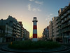 The lighthouse roundabout at Nieuwpoort, Flanders, Belgium