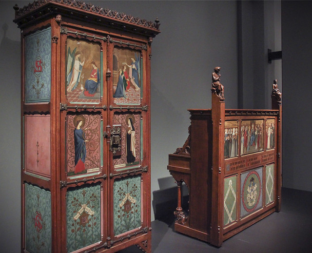 Music cabinet and Piano with a relic of St Cecillia, designed by Pierre Cuypers, 1858-59