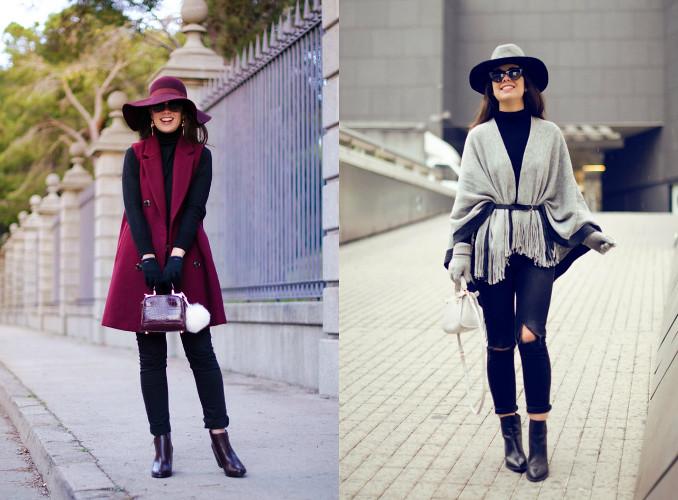 4 maneras de combinar suéter negro de cuello alto