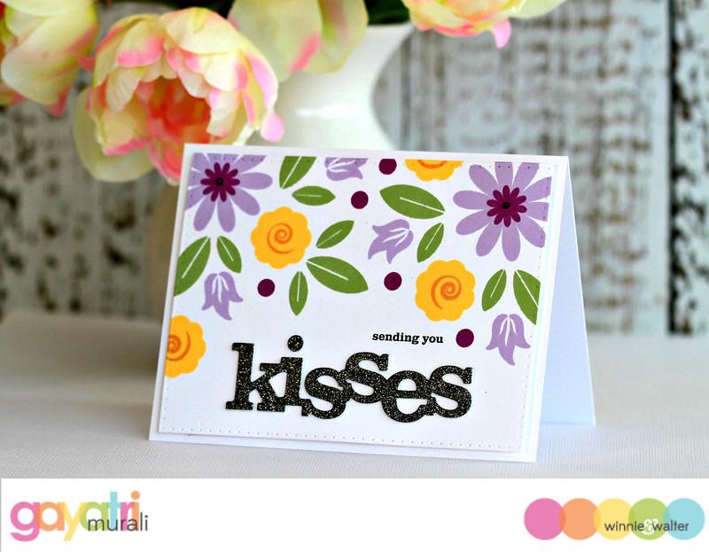 Kisses card #1