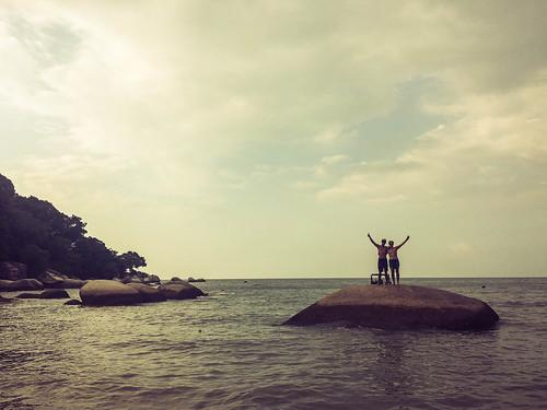 Einsamer Strand auf Penang