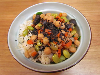 Sushi Rice and Bean Stew