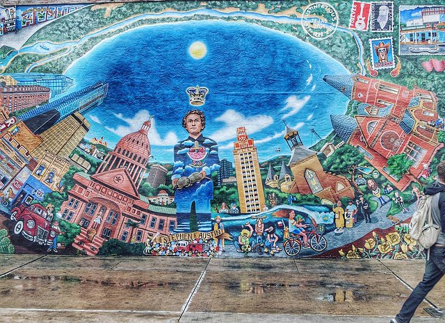That silly mural down on the Drag... #mural #market #austin #atx #preSXSW #olympus #ep1 #25mm