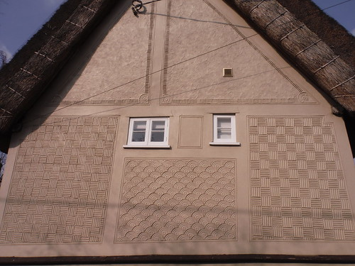 The Cottage, pargeted house in Wendens Ambo (detail)