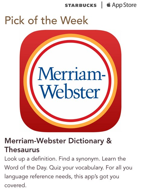 Starbucks iTunes Pick of the Week - Merriam-Webster Dictionary & Thesaurus