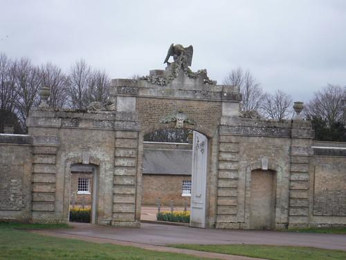 Wrest Park, entrance gate to Visitor Car park