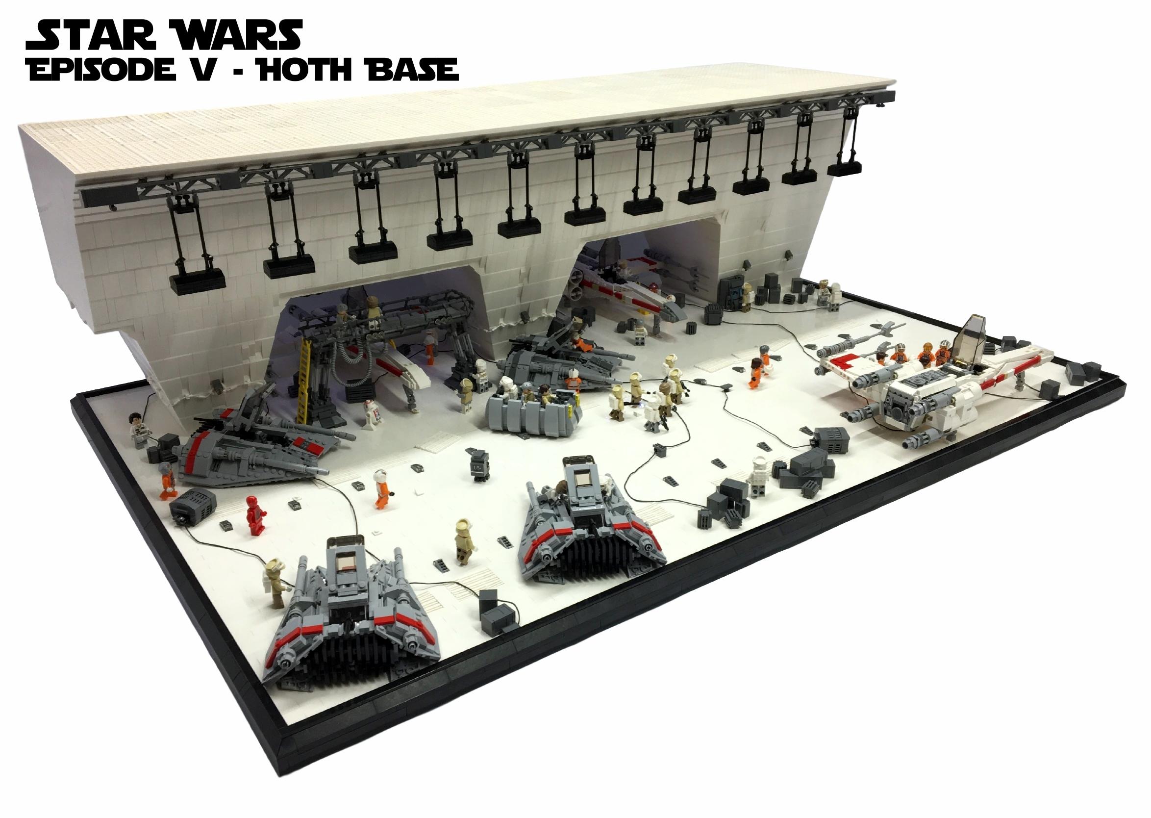 star wars episode v hoth base lego. Black Bedroom Furniture Sets. Home Design Ideas