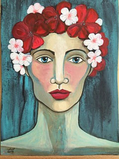 Week 10 - Girl with Flowers in her Hair