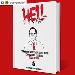 #Repost @busycreator with @repostapp. ・・・ My guest this week is @BryceBladon, freelance writer & editor of Clients From Hell. He's written a new book, Hell To Pay, concerning all things financial that #freelancers and #creative pros have to face. Check Bu