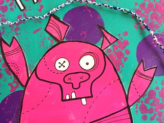 11 - Trust Your Gut - Zombie Pig - Art Journal Page - 2