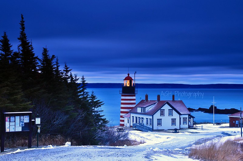 West Quoddy lighthouse in Maine