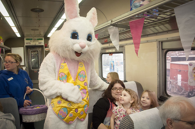 Easter Bunny Train Ride at the B&O