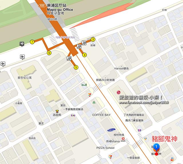 麻浦區廳地圖