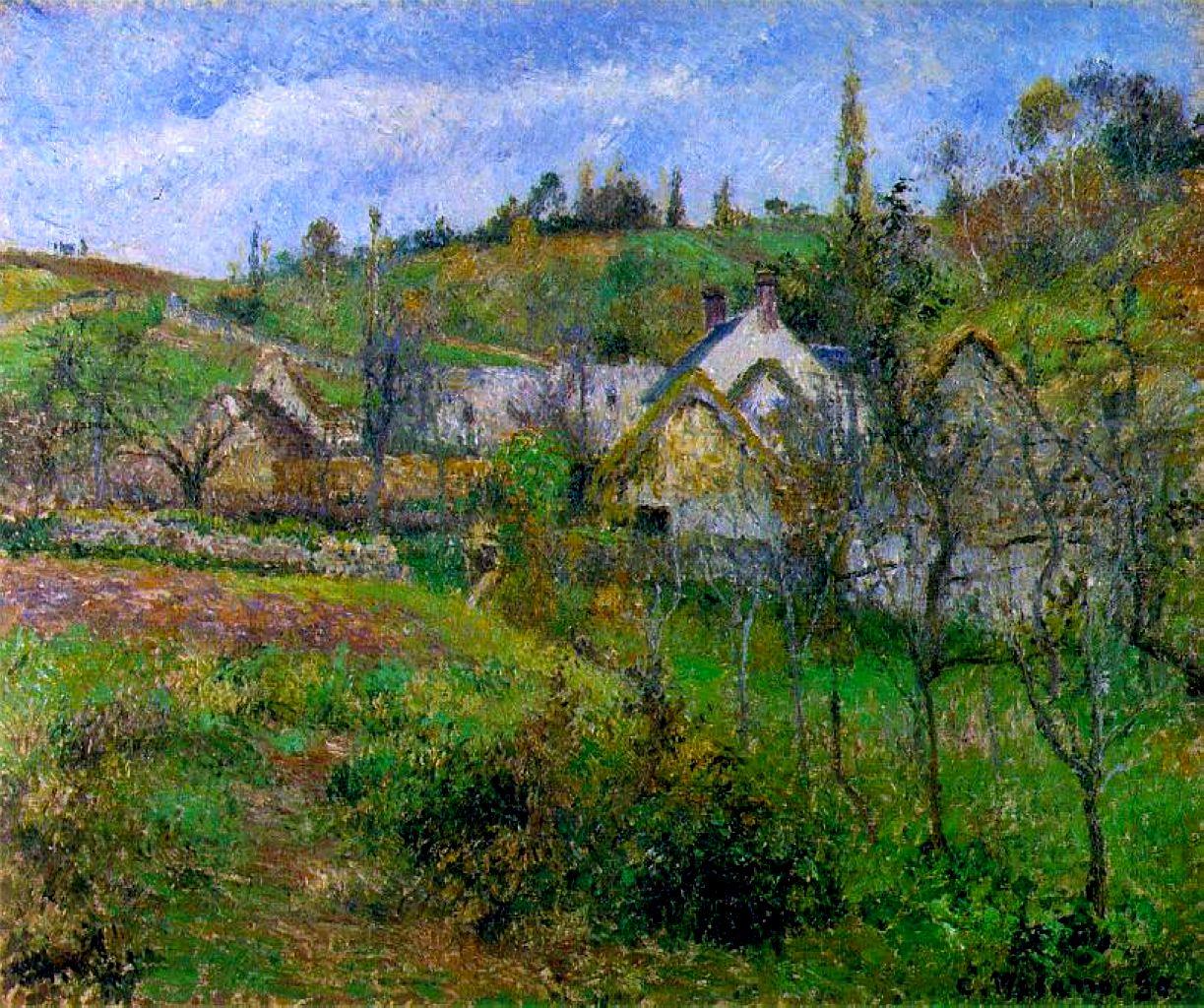 Le Valhermeil, near Pontoise by Camille Pissarro, 1880