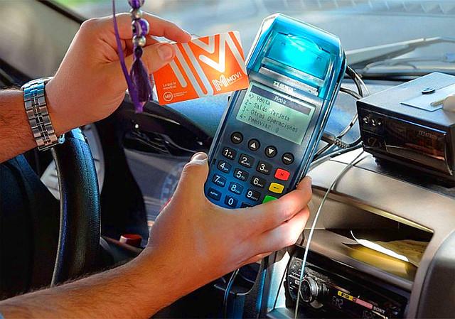 Pago con tarjeta Movi en taxis