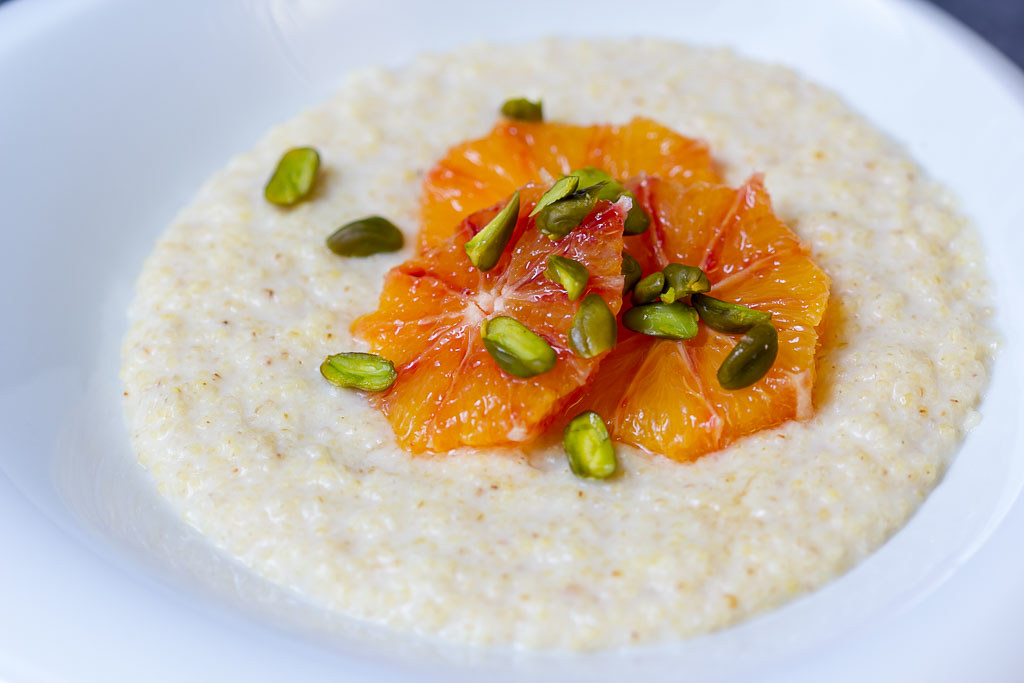 Hirseporridge vegan via lunchforone.de